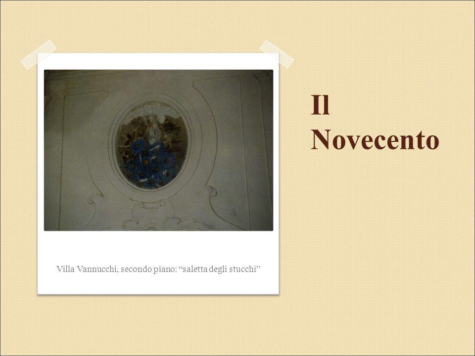 Il Novecento Villa Vannucchi, secondo piano: saletta degli stucchi