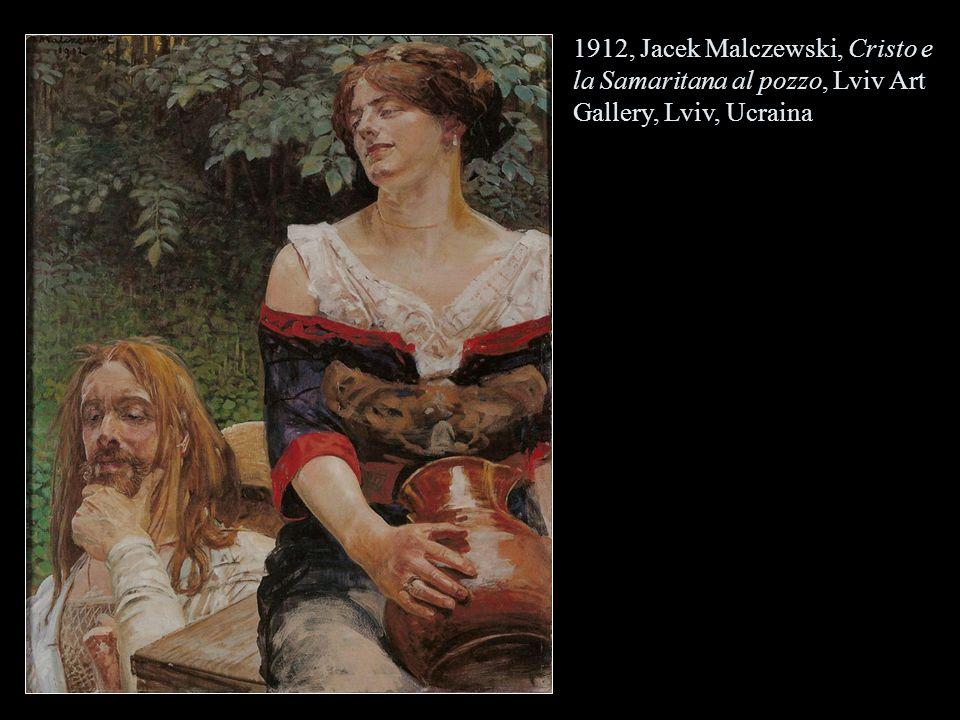 1912, Jacek Malczewski, Cristo e la Samaritana al pozzo, Lviv Art Gallery, Lviv, Ucraina