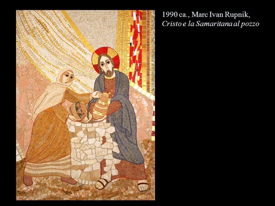 1990 ca., Marc Ivan Rupnik, Cristo e la Samaritana al pozzo