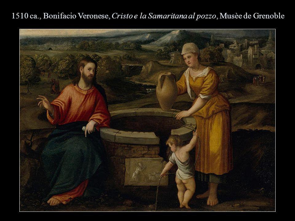1510 ca., Bonifacio Veronese, Cristo e la Samaritana al pozzo, Musèe de Grenoble
