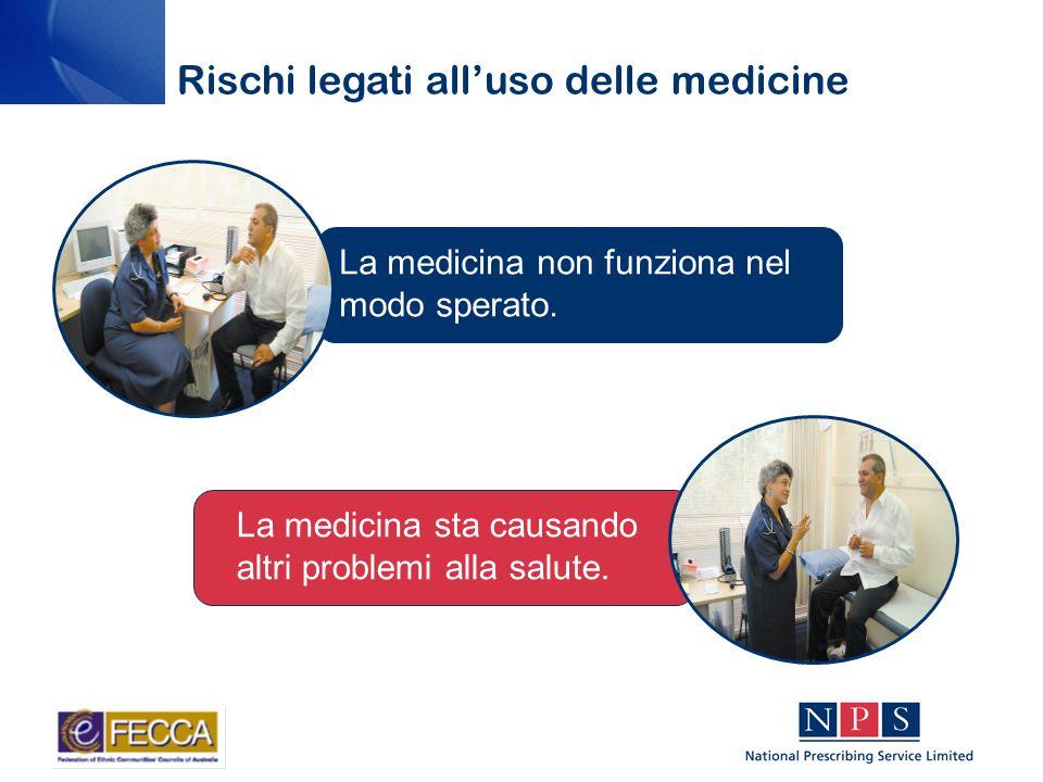 La medicina non funziona nel modo sperato. La medicina sta causando altri problemi alla salute.