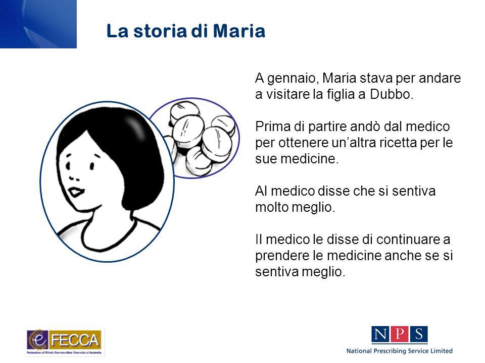 Maria acquistò anche delle compresse antinfiammatorie in farmacia per il mal di schiena.