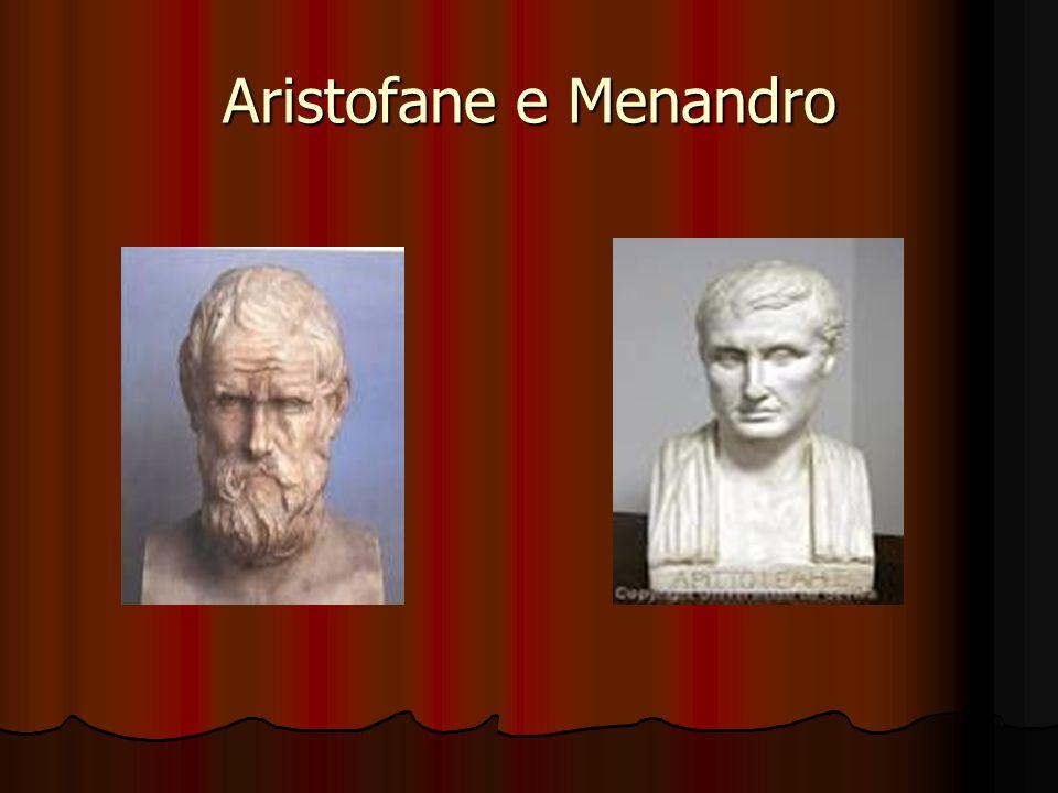 Aristofane e Menandro