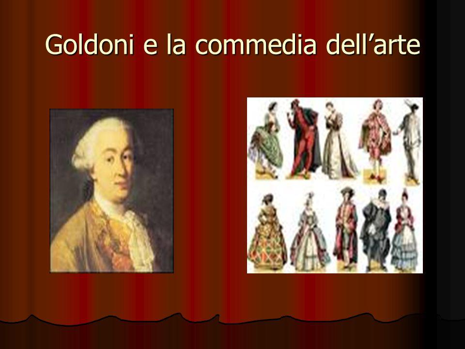 Goldoni e la commedia dell'arte