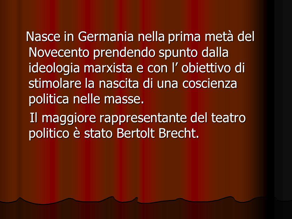 Nasce in Germania nella prima metà del Novecento prendendo spunto dalla ideologia marxista e con l' obiettivo di stimolare la nascita di una coscienza politica nelle masse.