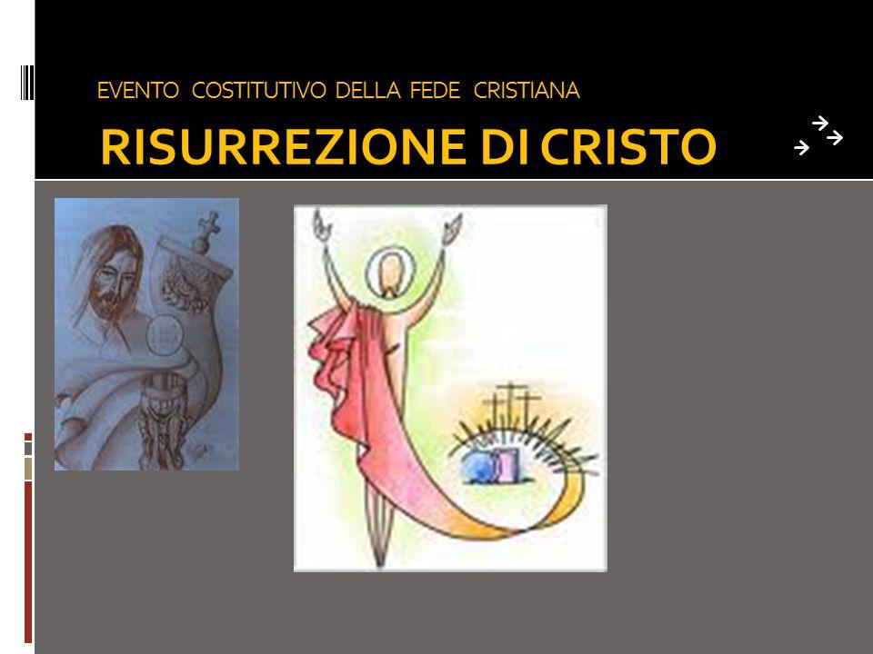 EVENTO COSTITUTIVO DELLA FEDE CRISTIANA RISURREZIONE DI CRISTO