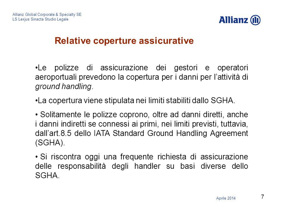 8 Allianz Global Corporate & Specialty SE LS Lexjus Sinacta Studio Legale Aprile 2014 ALCUNI CASI DI RESPONSABILITA' DEI GESTORI/OPERATORI AEROPORTUALI