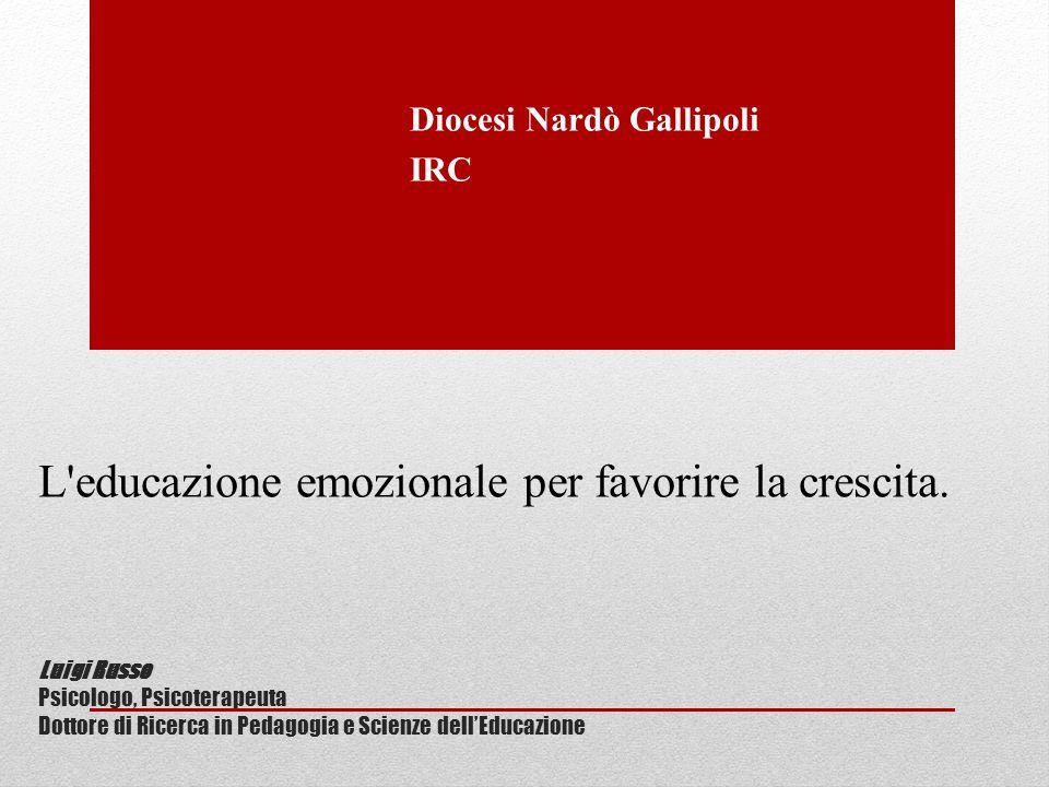 Luigi Russo Psicologo, Psicoterapeuta Dottore di Ricerca in Pedagogia e Scienze dell'Educazione Diocesi Nardò Gallipoli IRC L'educazione emozionale pe