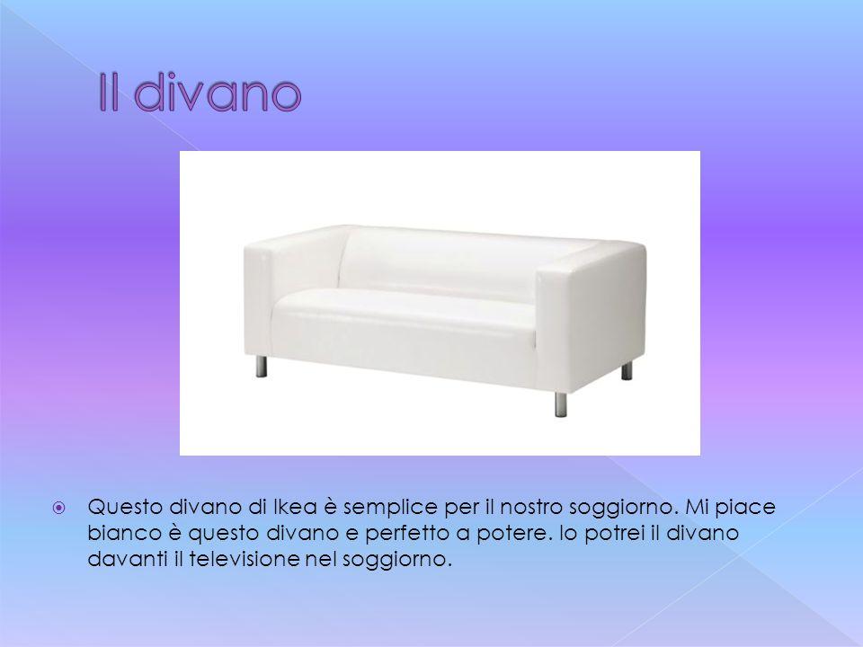  Questo divano di Ikea è semplice per il nostro soggiorno. Mi piace bianco è questo divano e perfetto a potere. Io potrei il divano davanti il televi