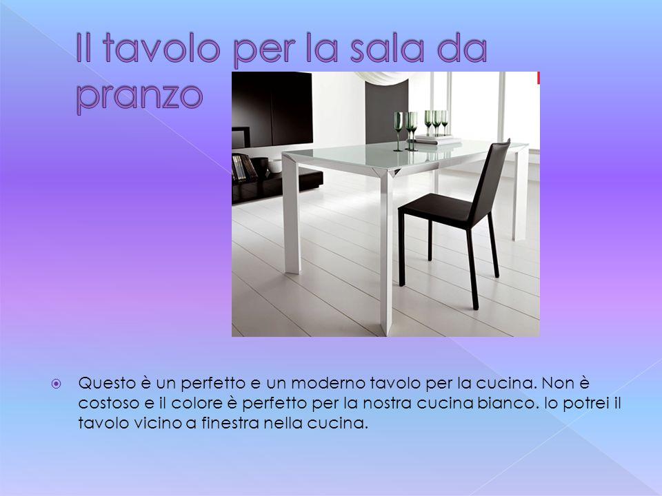  Questo è un perfetto e un moderno tavolo per la cucina. Non è costoso e il colore è perfetto per la nostra cucina bianco. Io potrei il tavolo vicino