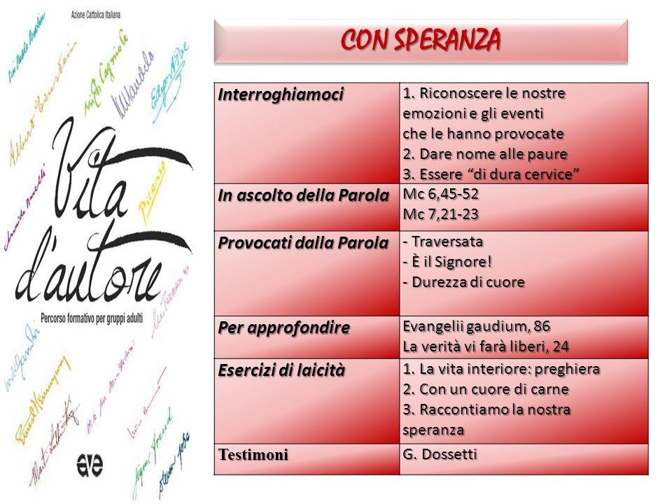 CON SPERANZA Interroghiamoci 1.