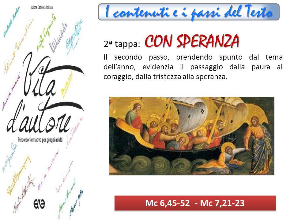 I contenuti e i passi del Testo AFFIDABILI 3ª tappa: AFFIDABILI Il terzo passaggio trae linfa dal capitolo quattro di Marco, che esprime la risposta alla crisi del catecumeno e dei primi cristiani.