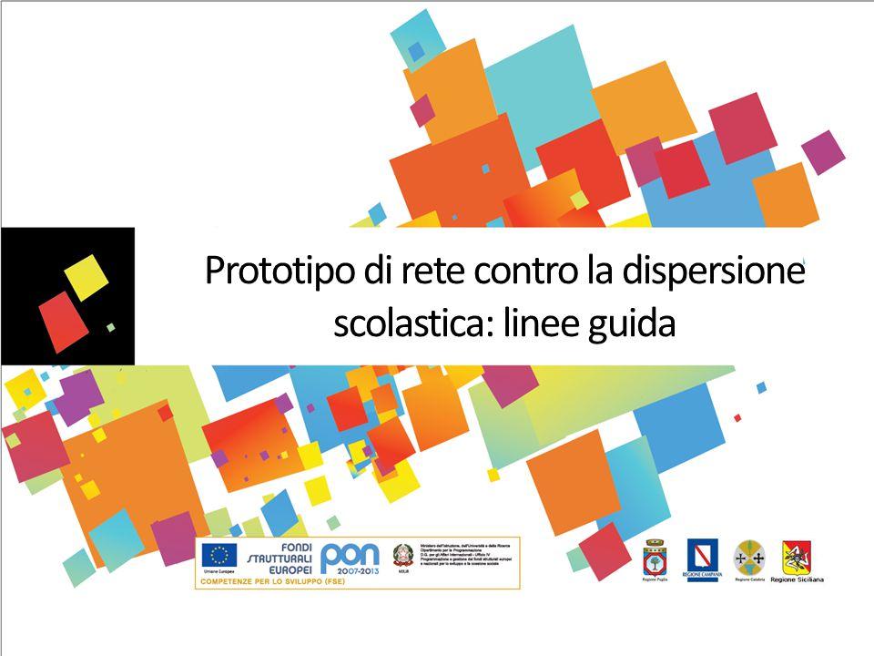 Prototipo di rete contro la dispersione scolastica: linee guida