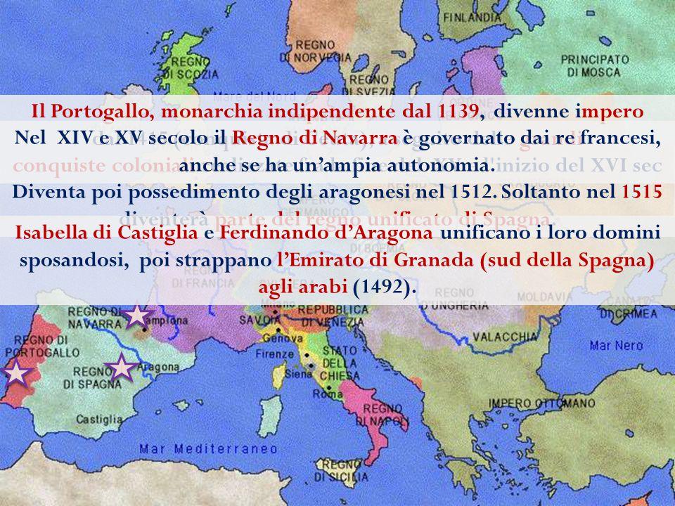 In Francia si realizza l' unificazione del territorio nazionale attraverso la guerra dei cento anni (1337-1453) contro l'Inghilterra (che possedeva feudi in Francia), che si conclude con l'espulsione di quest' ultima dal territorio nazionale Inghilterra: Guerra civile tra le casate degli York e dei Lancaster per la successione al trono (guerra delle due rose /1445 -1447).
