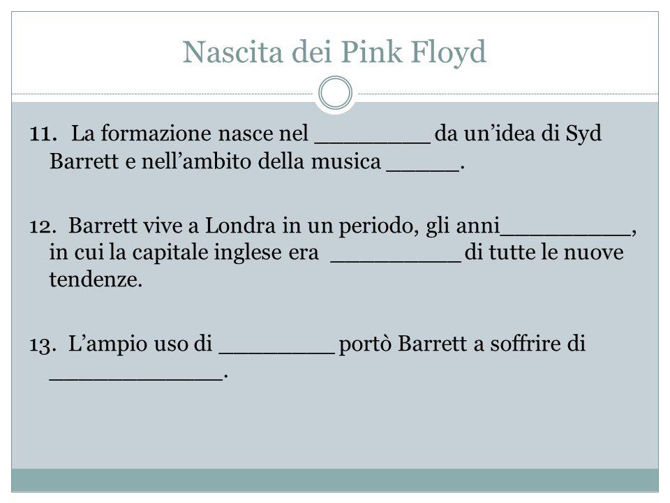 Nascita dei Pink Floyd 11.