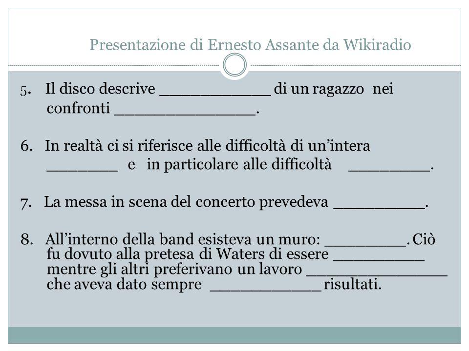 Presentazione di Ernesto Assante da Wikiradio 5.