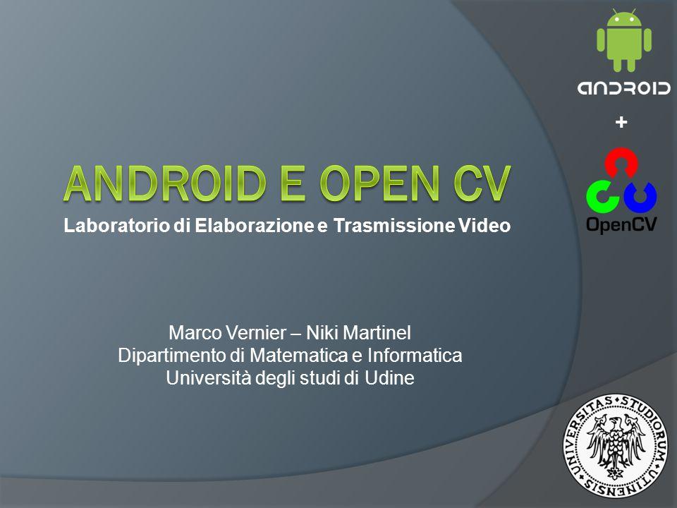 Laboratorio di Elaborazione e Trasmissione Video Marco Vernier – Niki Martinel Dipartimento di Matematica e Informatica Università degli studi di Udine +