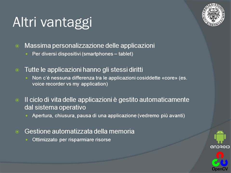 Import di un progetto esistente  File  Import  Android  Existing Android Code Into Workspace Scaricare: http://www.marcovernier.it/etvid/HelloAndroid.ziphttp://www.marcovernier.it/etvid/HelloAndroid.zip