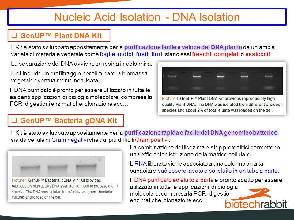 Nucleic Acid Isolation – Virus DNA/RNA Isolation  GenUP™ Virus DNA/RNA Kit Il kit è molto utile quando non si conosce la natura del virus.
