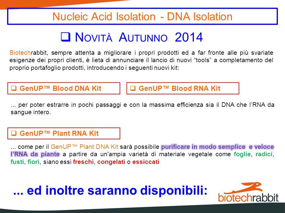  GenUP™ FFPE Paraffin Removal Solution  GenUP™ Bisulfite Kit  GenUP™ Exo 'n SAP PCR Cleanup Kit