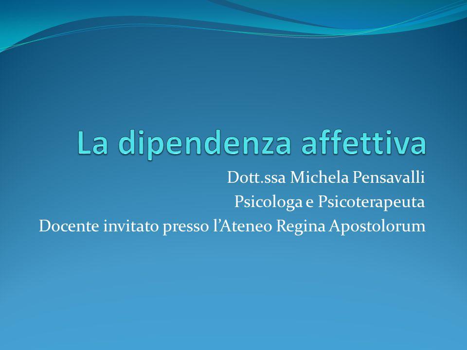 Dott.ssa Michela Pensavalli Psicologa e Psicoterapeuta Docente invitato presso l'Ateneo Regina Apostolorum