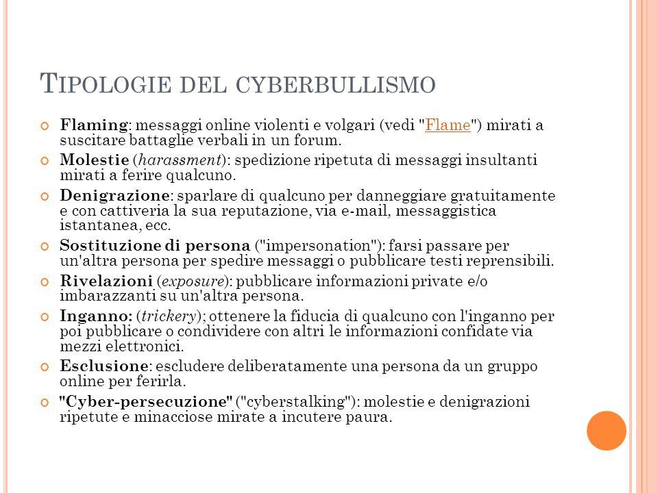 IL CYBERBULLISMO Il cyberbullismo o ciberbullismo (ossia