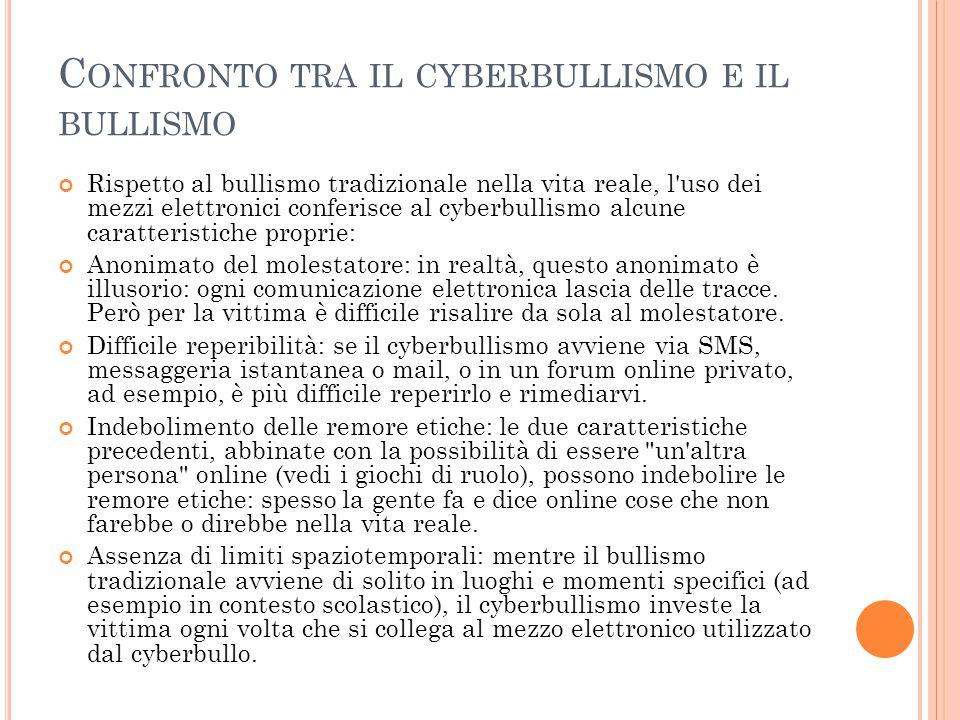 T IPOLOGIE DEL CYBERBULLISMO Flaming : messaggi online violenti e volgari (vedi