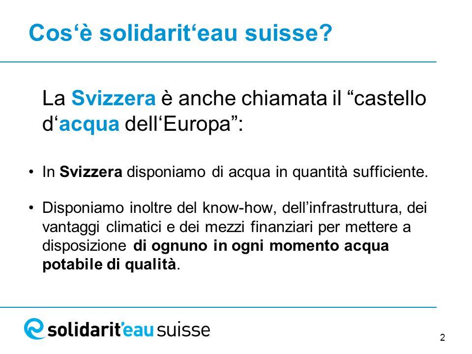 2 Cos'è solidarit'eau suisse.