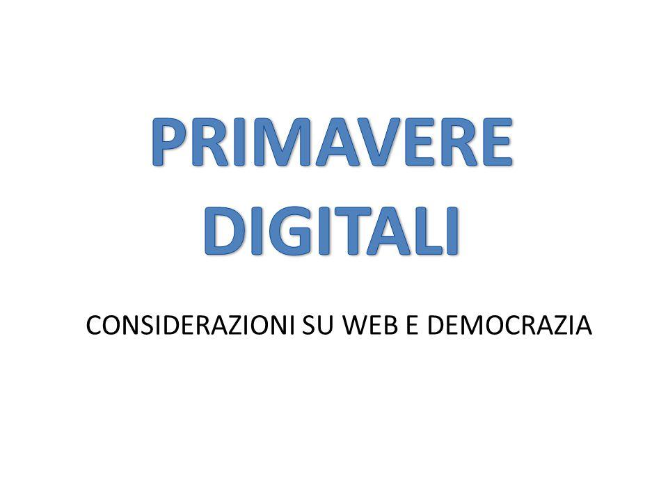 CONSIDERAZIONI SU WEB E DEMOCRAZIA