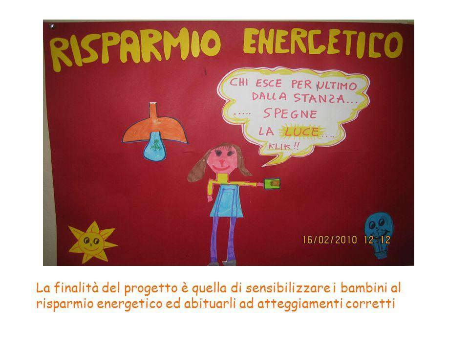 La finalità del progetto è quella di sensibilizzare i bambini al risparmio energetico ed abituarli ad atteggiamenti corretti