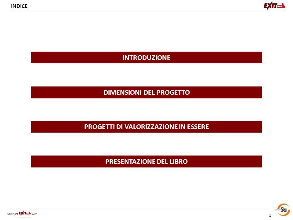 Copyright 2009 ESEMPIO CONCRETO : H OUSING S OCIALE E GESTIONE DINAMICA DEL PATRIMONIO ERP 23 Il libro L'esperienza maturata nell'ambito di questo piano ha dato vita ad un nuovo studio di valorizzazione del patrimonio ERP in chiave housing sociale che e in corso di stesura su un altra importante realtà urbana italiana.