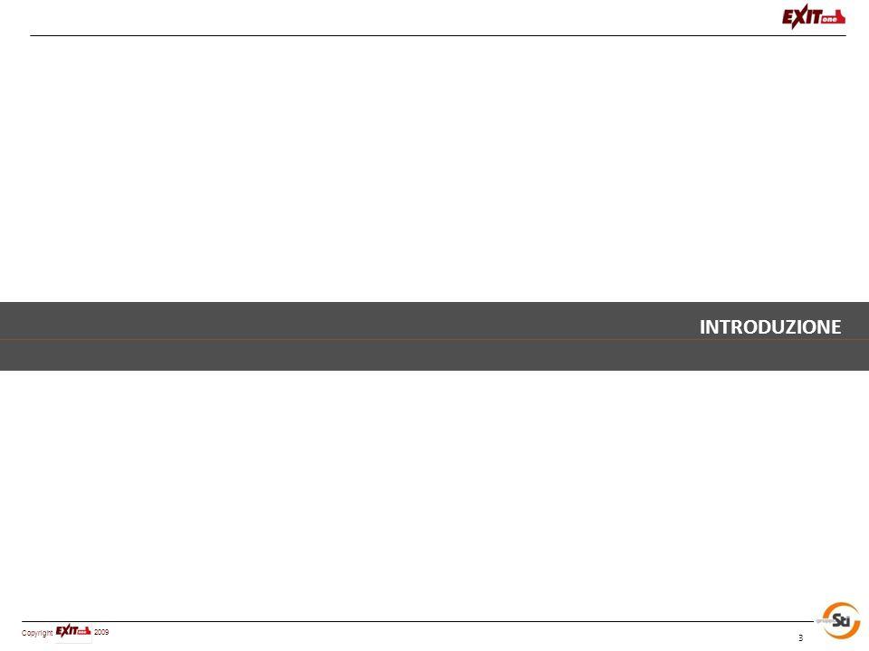 Copyright 2009 Altre pubblicazioni 2003 Negli anni EXITone (gruppoSTI) anni ha consolidato la sua posizione di driver culturale del settore, con la pubblicazione di diverse opere edite da Il Sole 24 Ore , alcune delle quali all'interno della collana dedicata dal titolo Management Immobiliare Il management patrimoniale Criteri e modelli per una gestione innovativa dei patrimoni immobiliari 2004 Il multiservizio tecnologico L uso dei vettori energetici nelle strutture sanitarie: analisi e metodologie operative 2005 Patrimoni pubblici e logiche di sistema - Il caso della Regione Piemonte: dalla conoscenza alle strategie di gestione integrata e di valorizzazione degli asset 2005 Know-how e professionalità: La distribuzione dei servizi nei sistemi a rete 2006 Real Estate e strumenti innovativi di Engineering Management 2007 Il processo di valorizzazione del Real Estate 2008 La valorizzazione del patrimonio immobiliare pubblico quale leva di sviluppo del territorio.