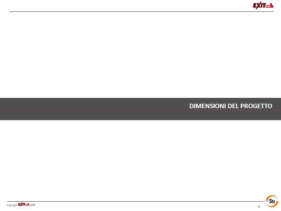 Copyright 2009 6 DIMENSIONI DEL PROGETTO