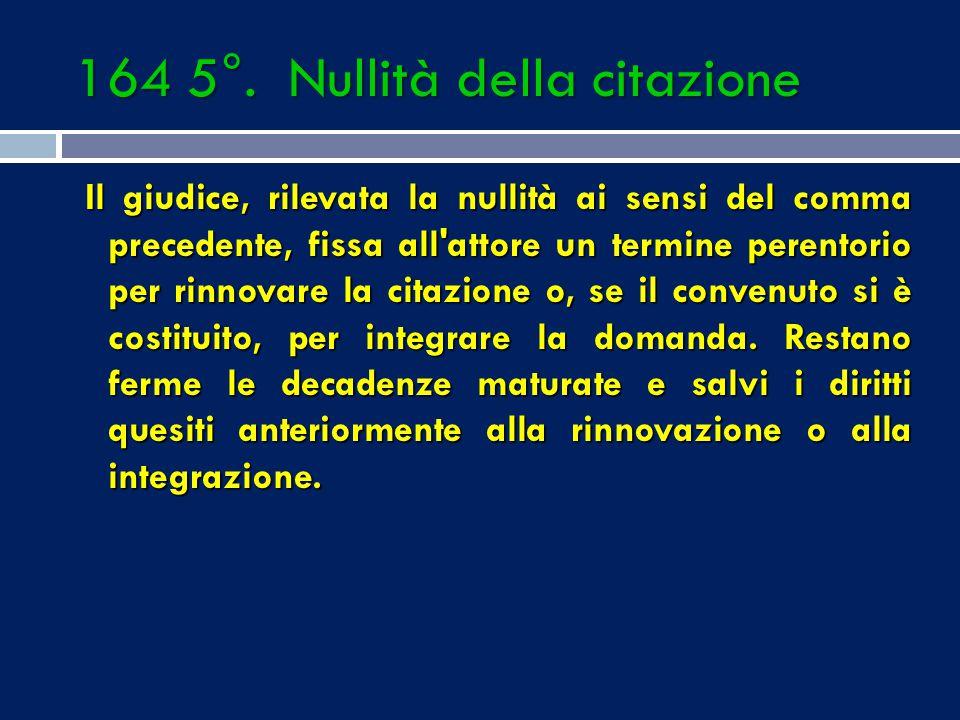 VIZI DELLA EDITIO ACTIONIS a) mancanza o incertezza assoluta del requisito di cui all'art. 163 n. 3 (oggetto della domanda); b) mancanza dell'esposizi