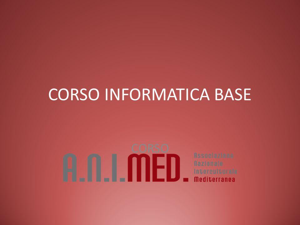 CORSO INFORMATICA BASE CORSO