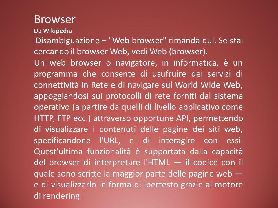 Browser Da Wikipedia Disambiguazione –