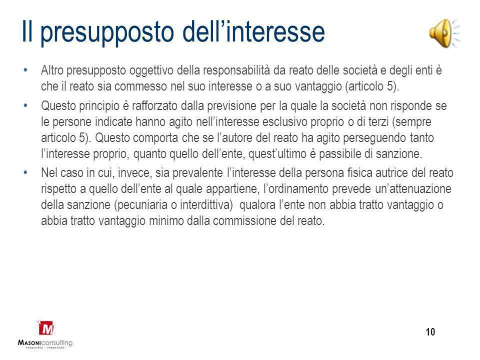 Appartenenza all'organizzazione Fermo restando che per il diritto italiano la responsabilità penale è configurabile solo con riferimento ad una person
