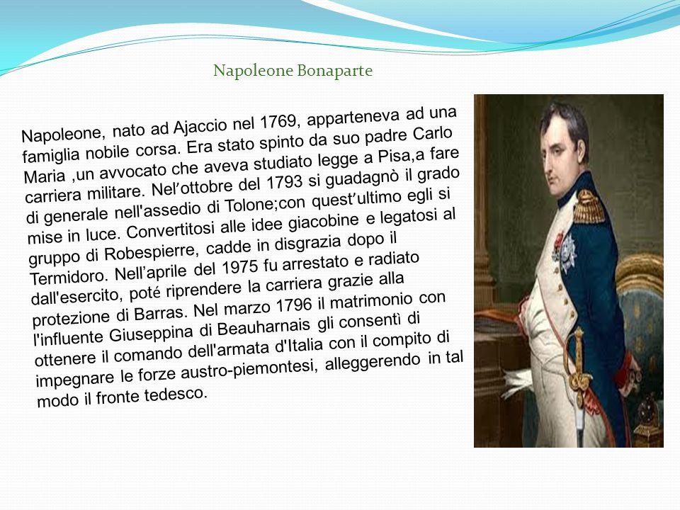 Napoleone, nato ad Ajaccio nel 1769, apparteneva ad una famiglia nobile corsa. Era stato spinto da suo padre Carlo Maria,un avvocato che aveva studiat