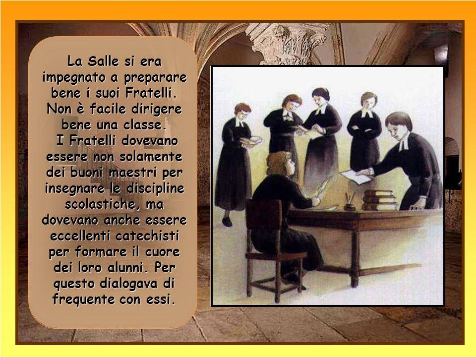 Al termine dell'assemblea i Fratelli si impegnarono a restare uniti per tre anni per promuovere le scuole di carità .