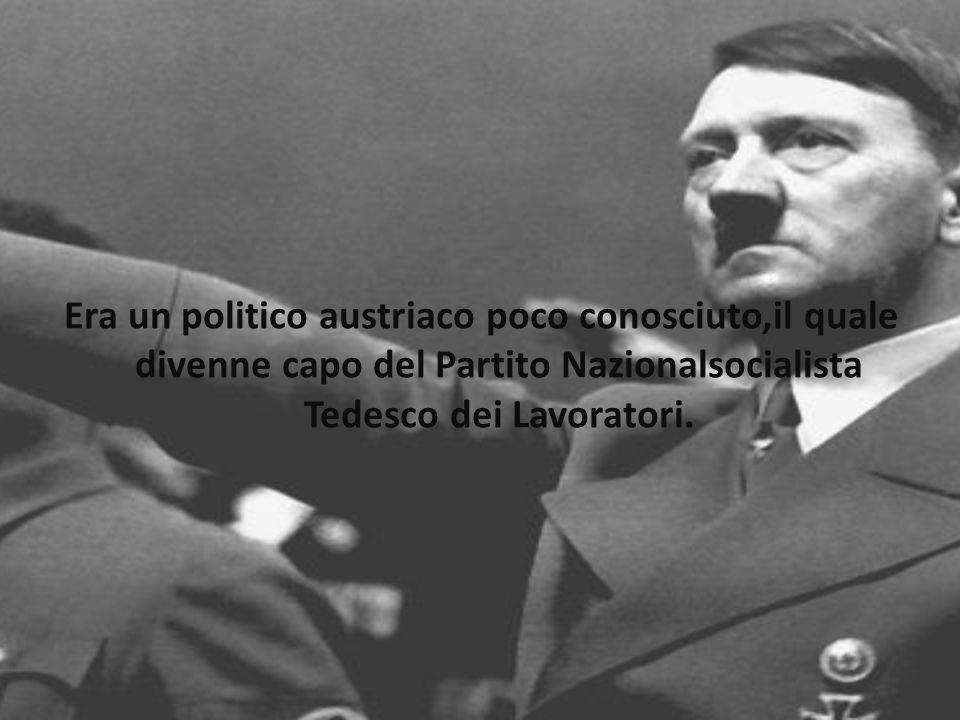 Era un politico austriaco poco conosciuto,il quale divenne capo del Partito Nazionalsocialista Tedesco dei Lavoratori.