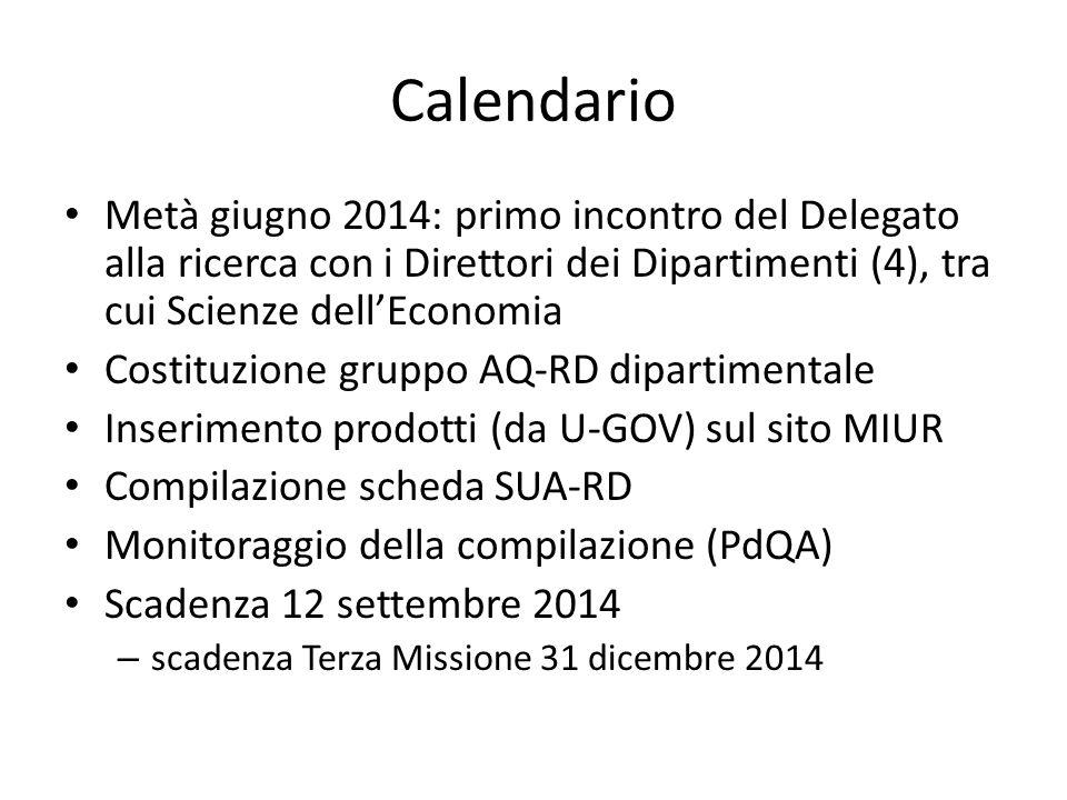 Calendario Metà giugno 2014: primo incontro del Delegato alla ricerca con i Direttori dei Dipartimenti (4), tra cui Scienze dell'Economia Costituzione