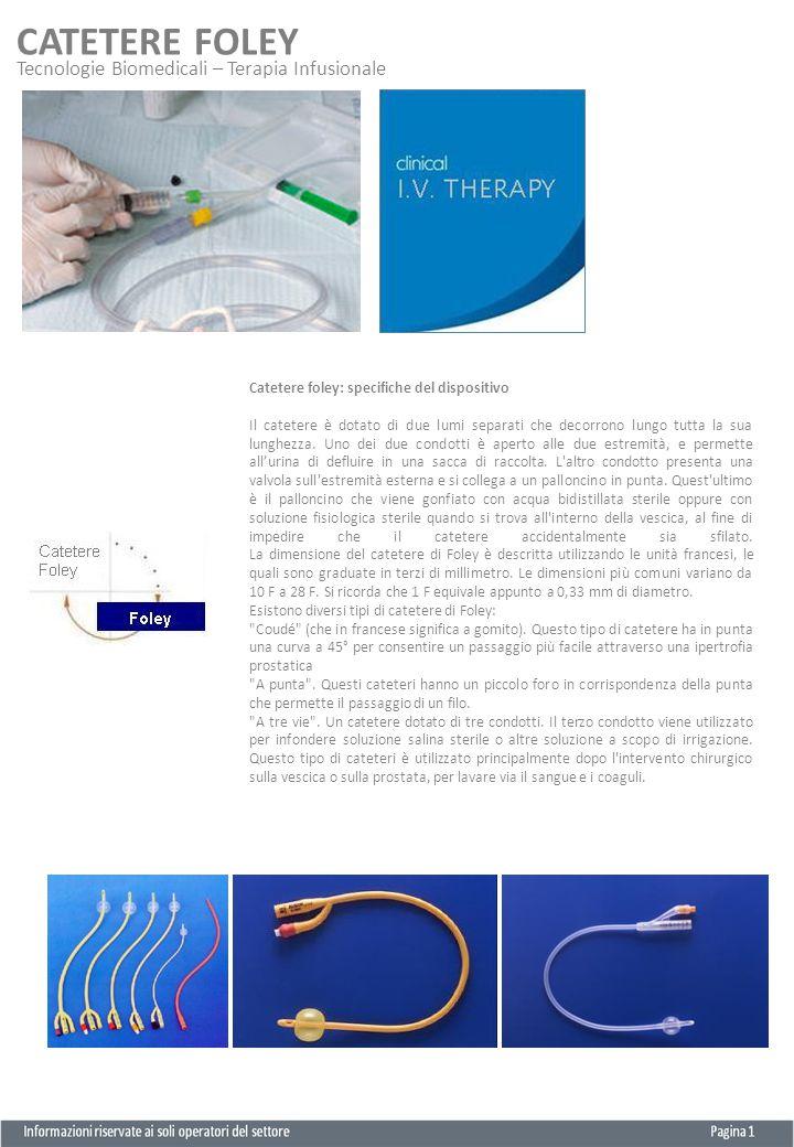CATETERE FOLEY Informazioni riservate ai soli operatori del settore Pagina 2 N° repertorio CF (L) 18177 - CF (S) 18181 Il dispositivo è utilizzato per la cateterizzazione intermittente tramite l'introduzione nell'uretra.