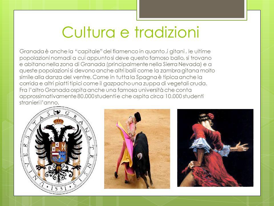 """Cultura e tradizioni Granada è anche la """"capitale"""" del flamenco in quanto,i gitani, le ultime popolazioni nomadi a cui appunto si deve questo famoso b"""