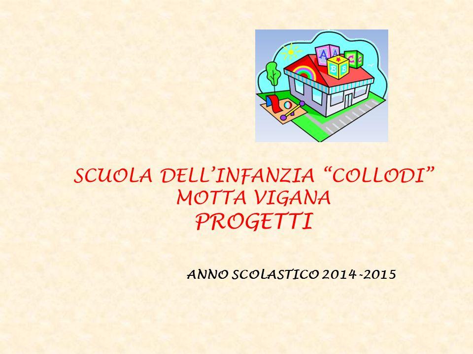 SCUOLA DELL'INFANZIA COLLODI MOTTA VIGANA PROGETTI ANNO SCOLASTICO 2014-2015