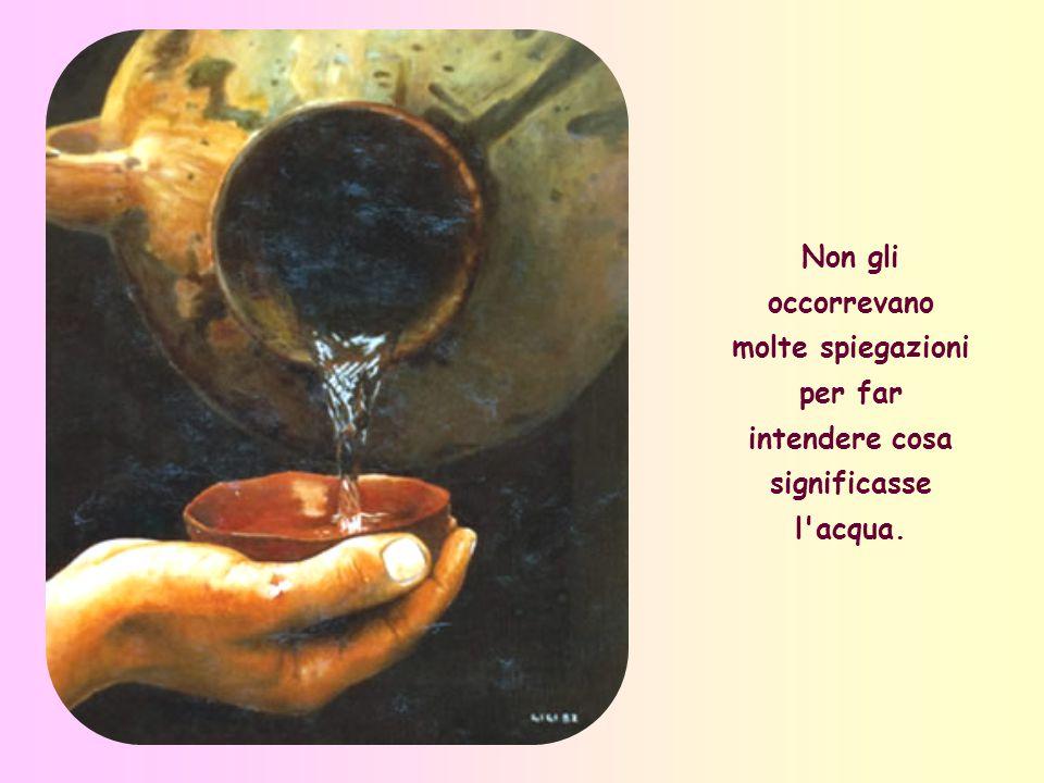 Sì, perché quell acqua così viva e preziosa ha questo di speciale, che zampilla nel nostro cuore ogniqualvolta l apriamo all amore verso tutti.