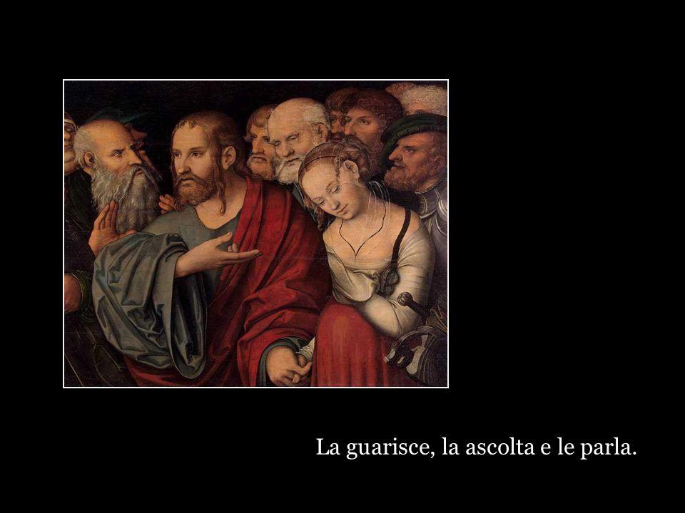 Gesù non dice: colei che ha toccato il mio mantello è un'isterica superstiziosa.