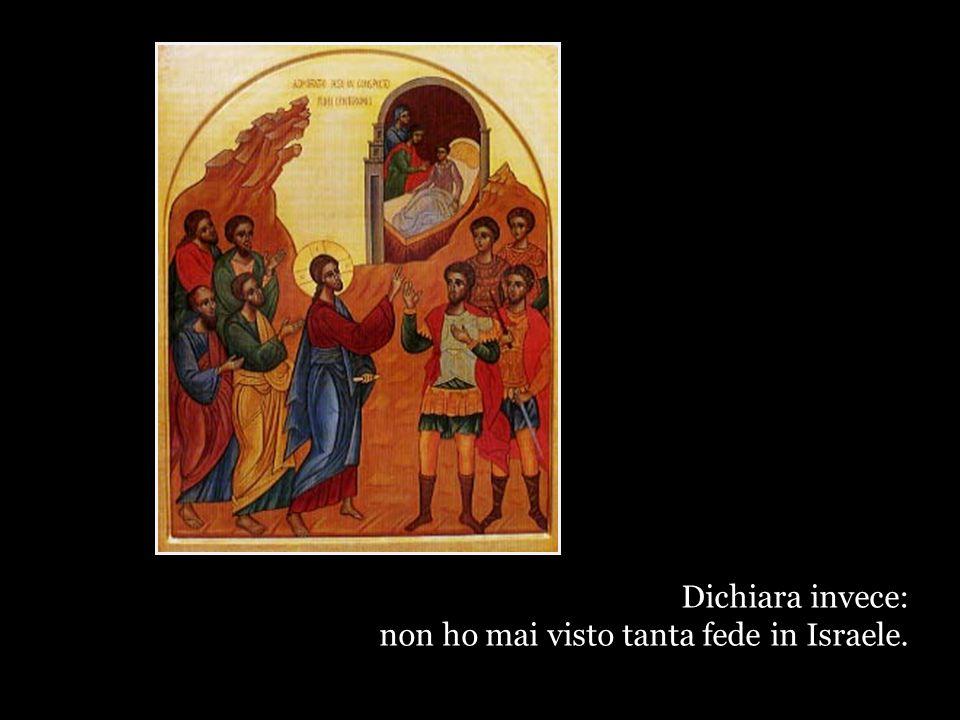 Gesù non dice: questo centurione non è che un invasore.