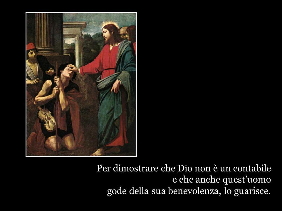 Gesù non dice: questo cieco sconta sicuramente i suoi peccati o quelli della sua famiglia.