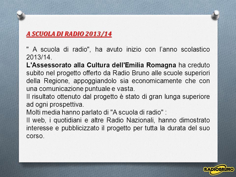 A SCUOLA DI RADIO 2013/14