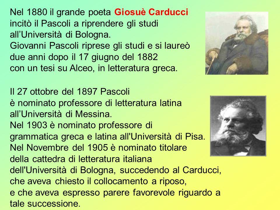 Il 26 novembre del 1911 Giovanni Pascoli pronuncia a Barga un discorso in favore dei feriti nella guerra libica.